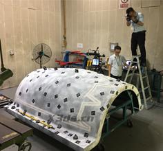 大型飞机引擎罩模具三维扫描