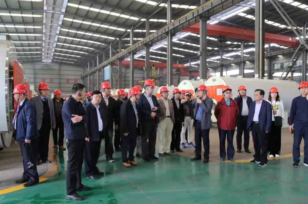 台灣嘉賓參觀德爾盛熱能科技生産車間