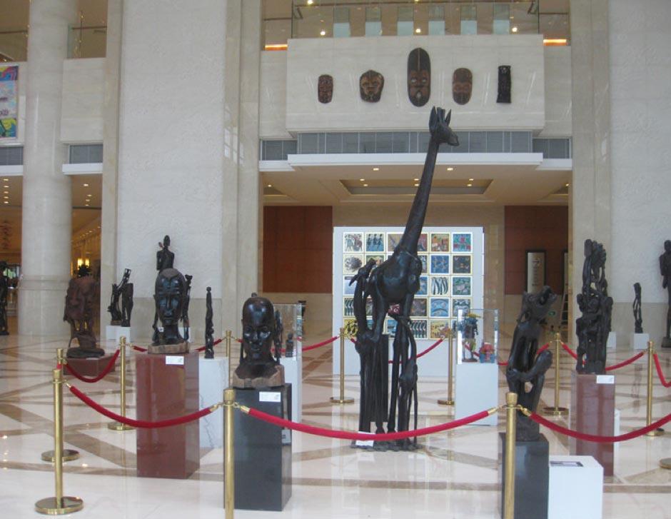 2012中非民间论坛中国非洲传统木雕展