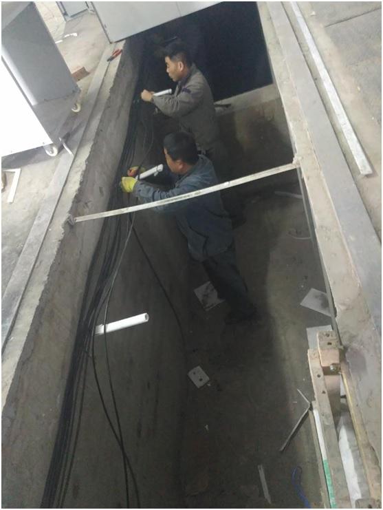 大中原电力施工进展