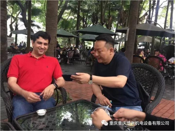 张健董事长会见伊朗客人—跨国合作、架起中伊友谊之桥