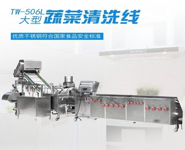 TW-506L  大型蔬菜清洗线
