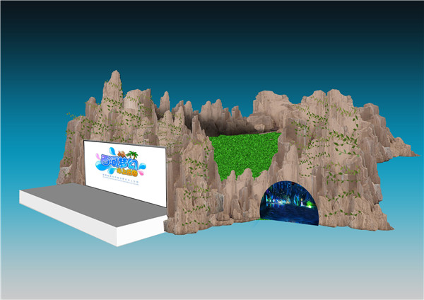 湖南郴州水上乐园塑石假山工程顺利完工