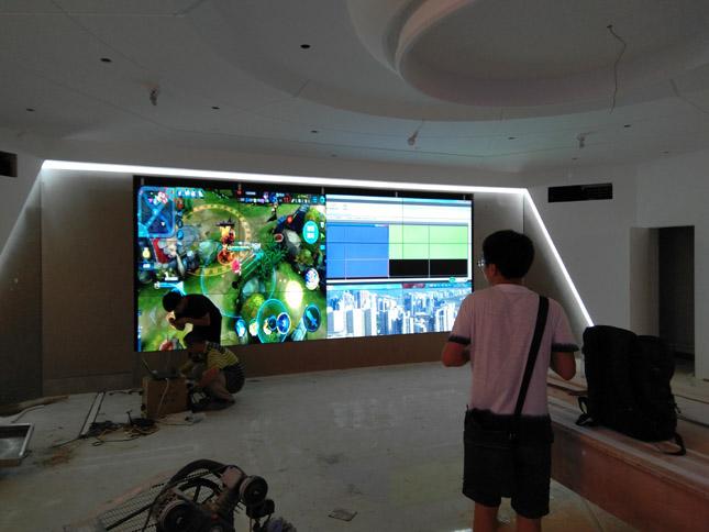 中铁科研所55寸超窄边液晶拼接项目