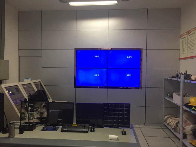 资阳某监控室42寸窄边拼接屏顺利完工
