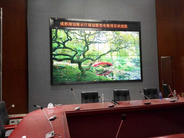 天府新区规划厅46寸超窄边拼接屏项目