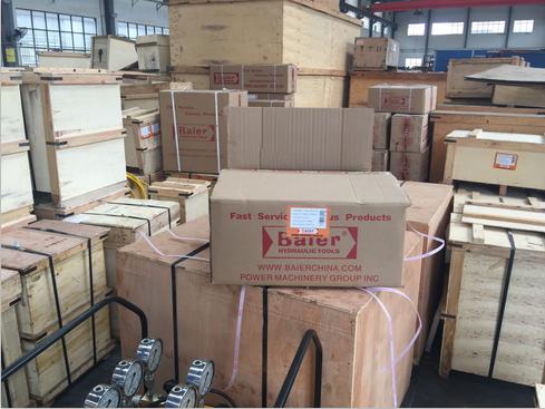 拜尔集团供山东钢铁集团的液压工具今日发出