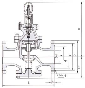 进口高温蒸汽减压阀