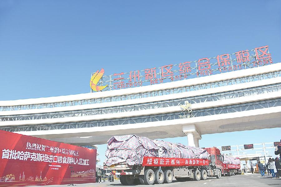 哈萨克斯坦进口粮食班列顺利抵达乐虎国际娱乐app铁路口岸