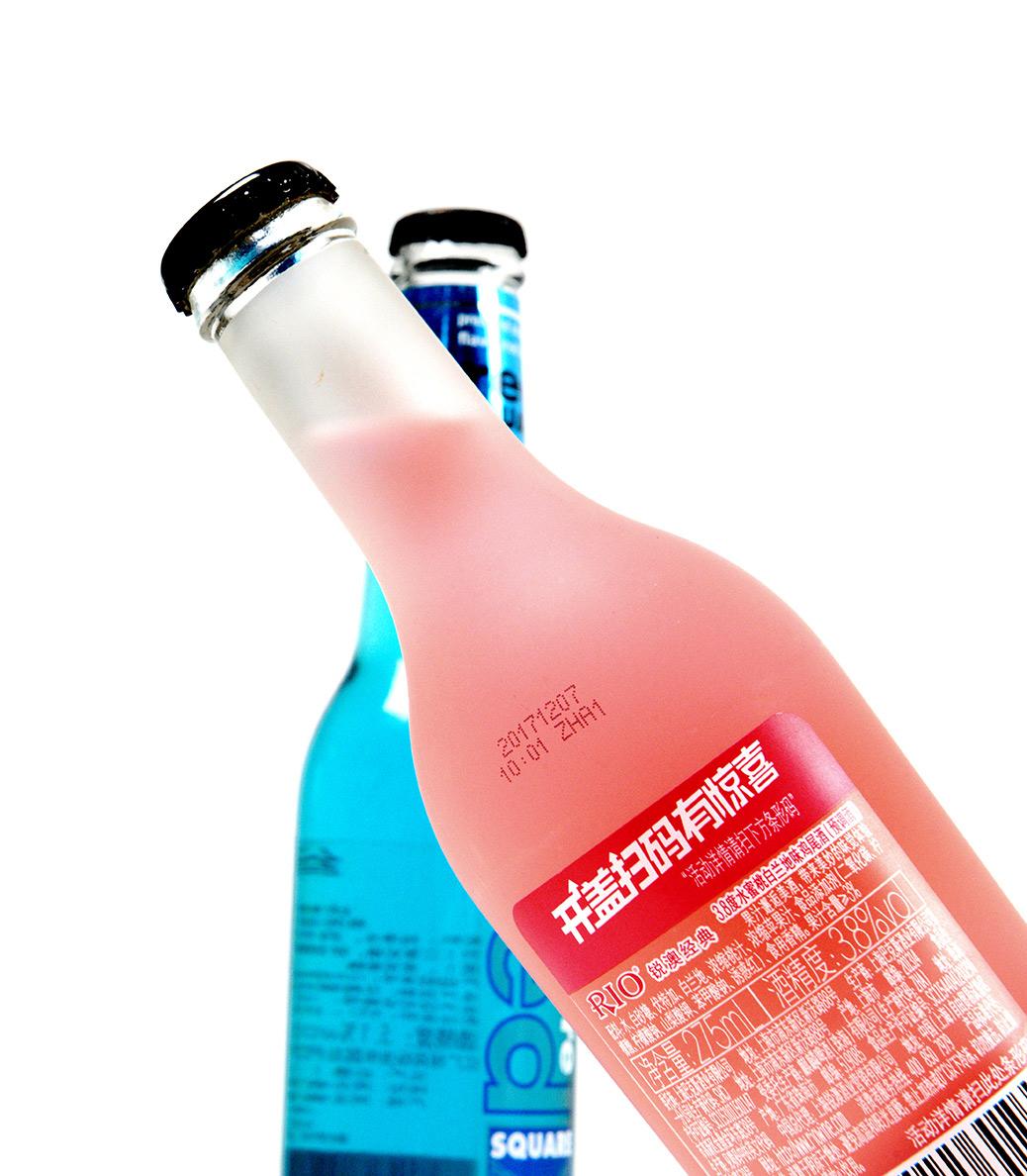 玻璃瓶喷印效果展示