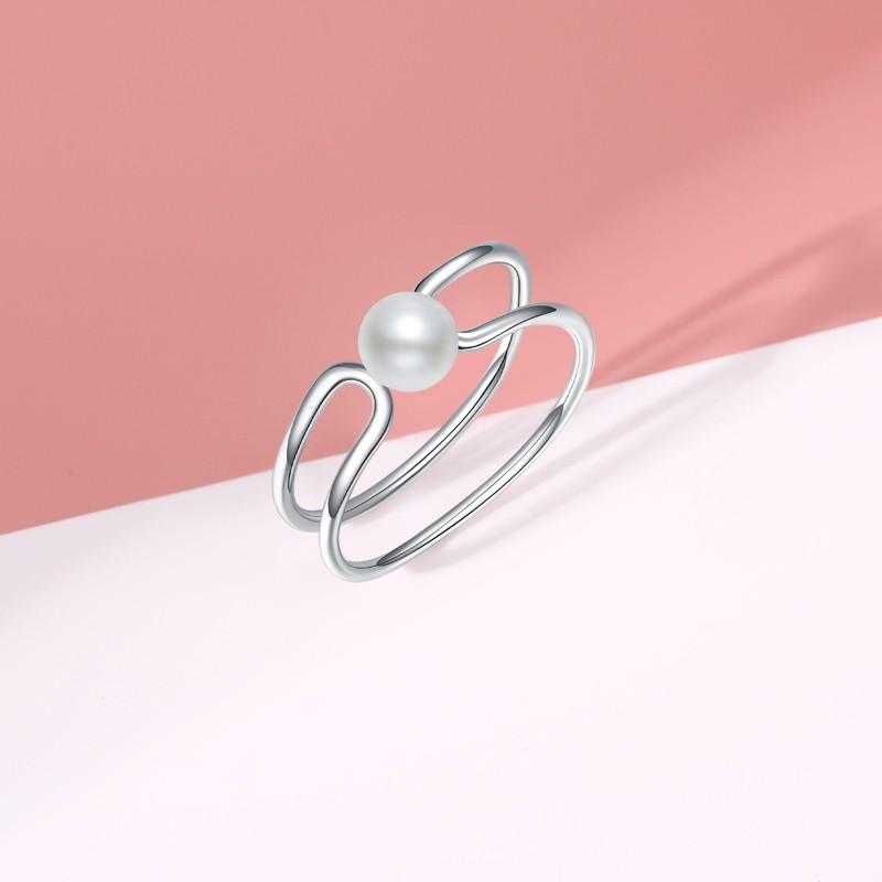 珍珠纯银戒指