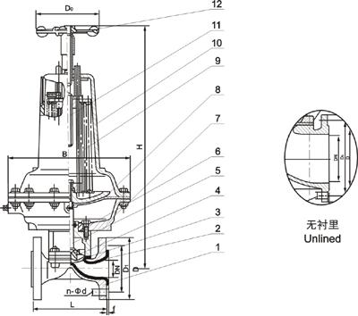 进口常闭式气动隔膜阀