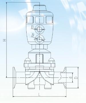 进口气动卫生级隔膜阀