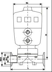 进口气动卡箍隔膜阀