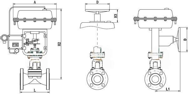 进口气动调节型隔膜阀