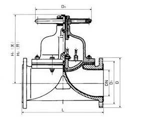 进口衬胶隔膜阀