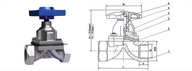 进口内螺纹隔膜阀