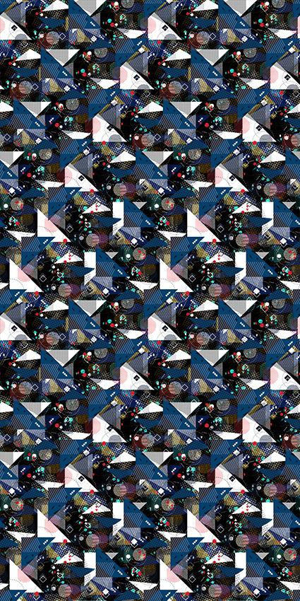 波点几何三角图形