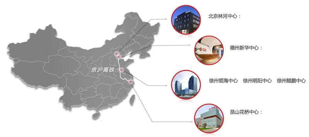 华道三地运营中心,呈现完善的服务网络及运营能力