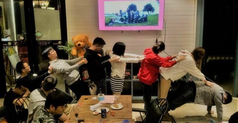 """齐发娛乐团委举办""""三生三世遇见你""""青年交友联谊会"""