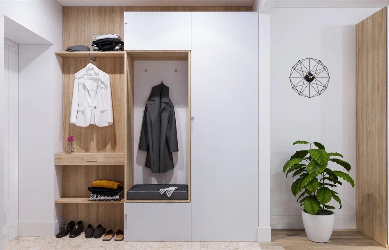 门厅鞋柜+衣柜的设计