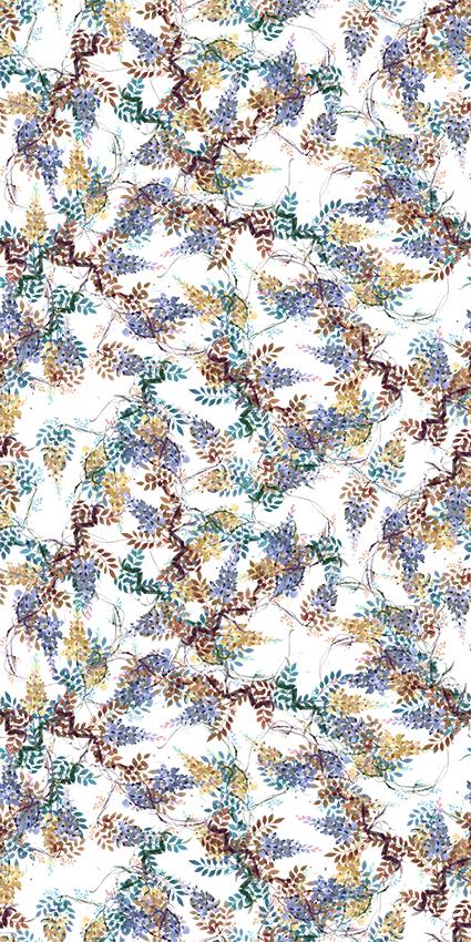 磨砂手绘效果花