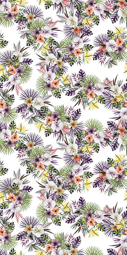 热带植物树叶花盆