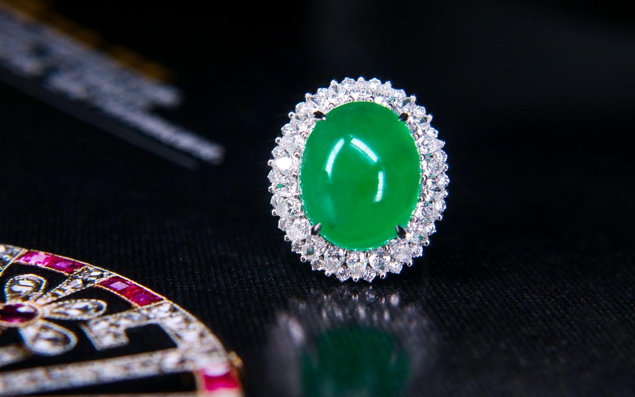 哥伦比亚天然祖母绿戒指Z1014