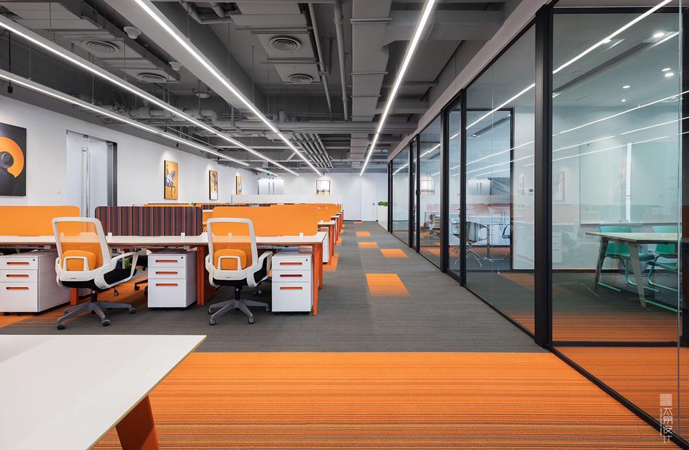 办公空间:色·构 | 现代风格 |1400㎡