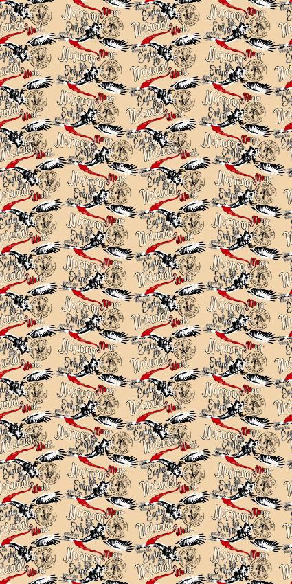 复古风格字母仙鹤