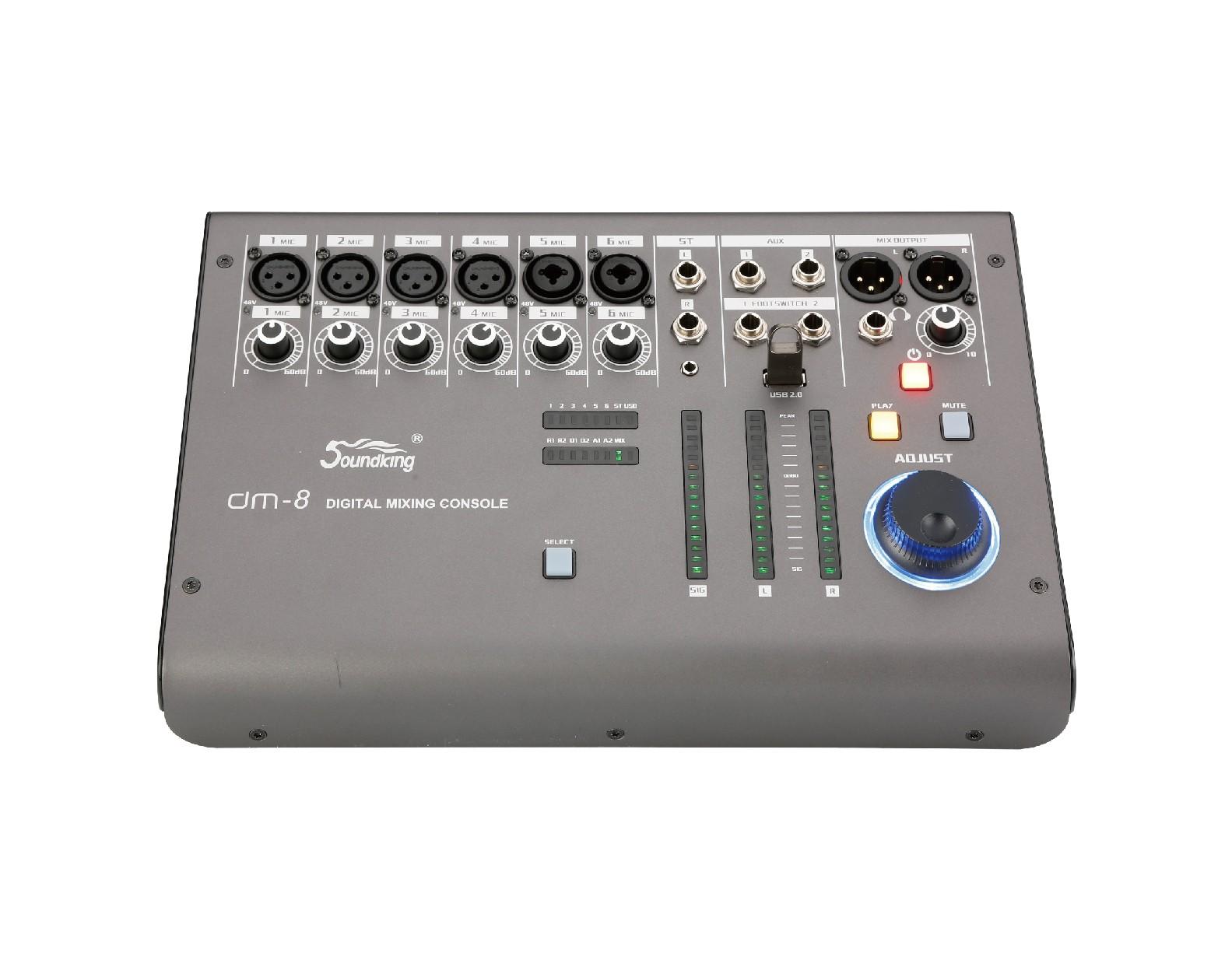 超緊湊型數字調音臺  DM8/DM12/DM16