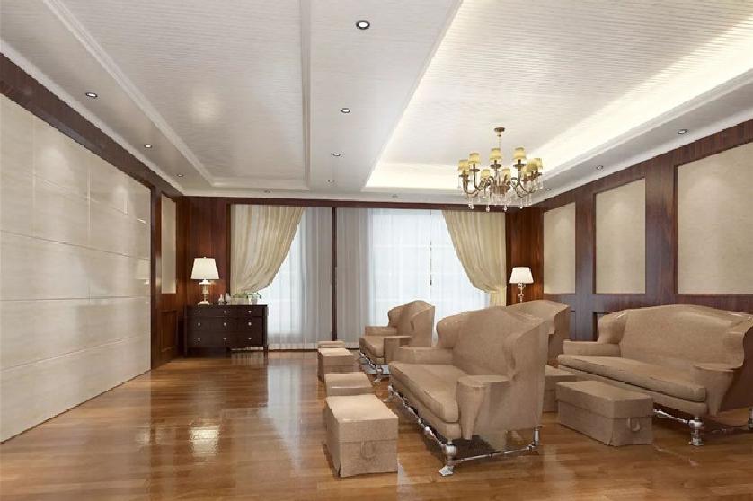 客厅中间有横梁该怎么装吊顶?