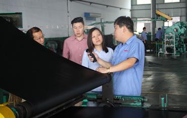 新加坡添福轮胎中国采购 经理Tang kay kay来我公司考察