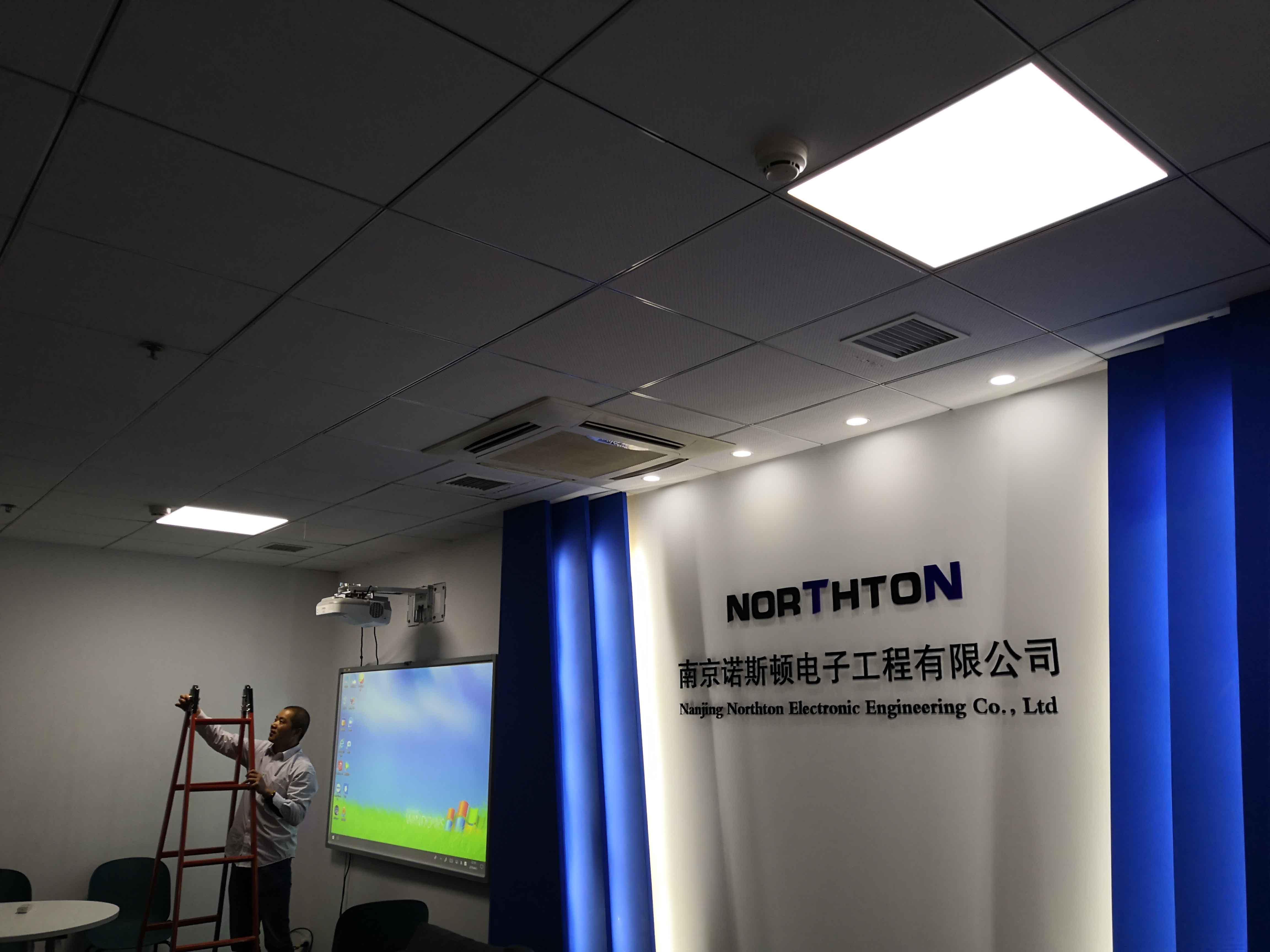 为园区企业更换高亮度LED面板灯