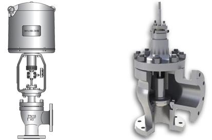 进口电动角形单座调节阀