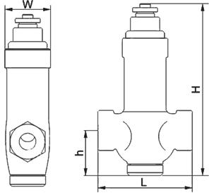 进口恒温式波纹管蒸汽疏水阀