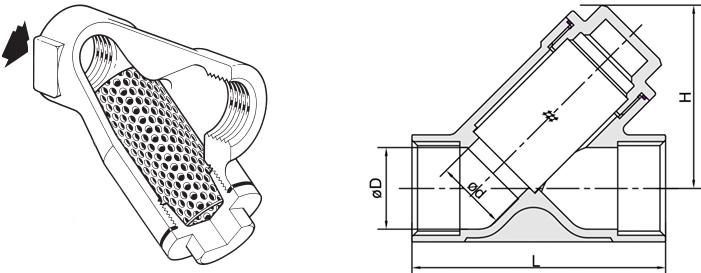 进口不锈钢丝扣过滤器