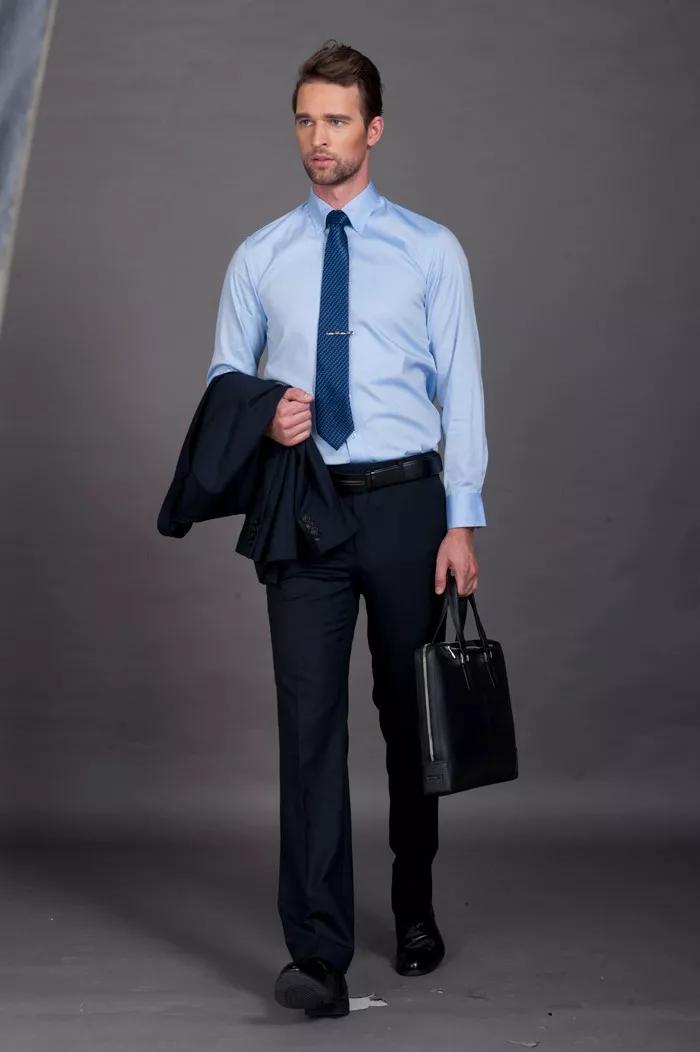 衬衫三穿 商务场合巧穿搭