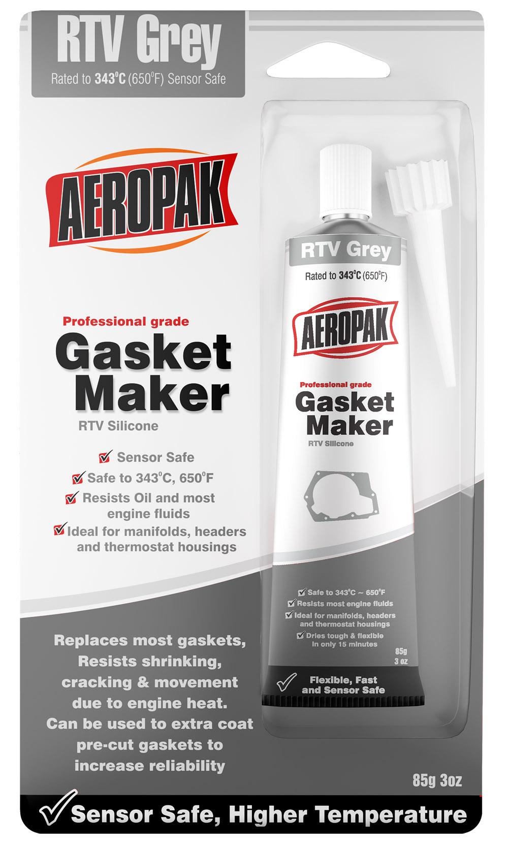 Aeropak Hi-Temp RTV Gasket Maker-Grey/Silver