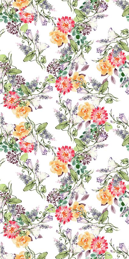 手绘真彩元素花朵