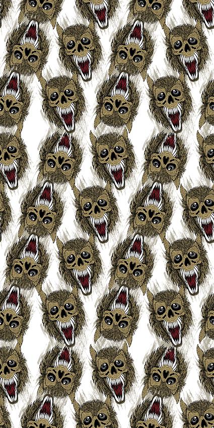 獠牙狼头卡通图形