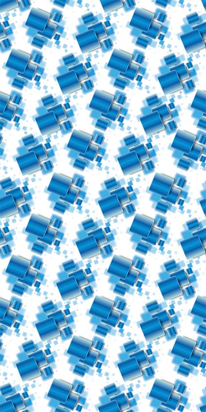 叠加几何效果方块