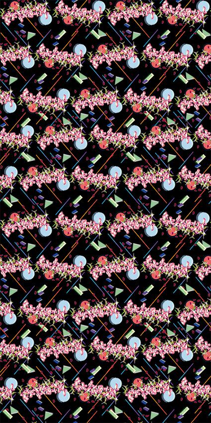 点线条几何图形花卉