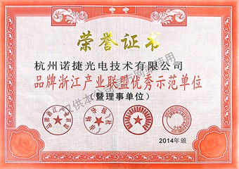品牌浙江产业联盟优秀示范单位