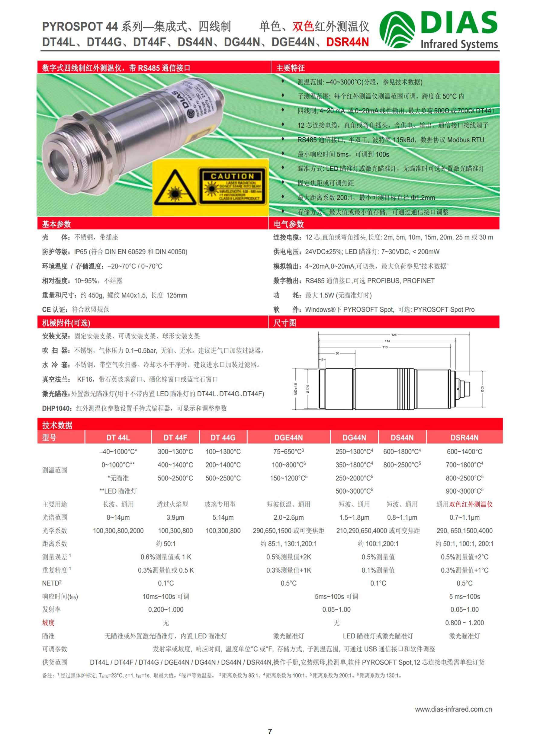 德国DIAS通用型集成式单色、双色红外测温仪