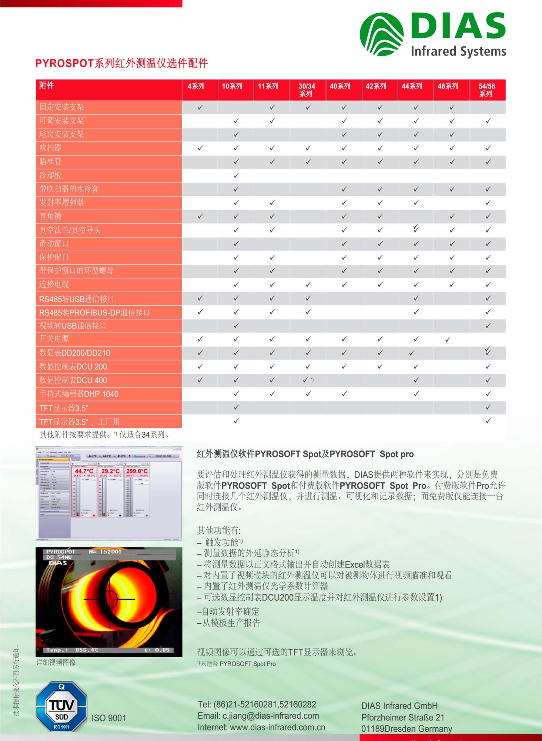 德国DIAS红外测温仪附件,配件及选型