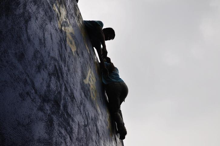 """西南财大金融学院2011""""熔炼团队,激情无限""""拓展训练营"""