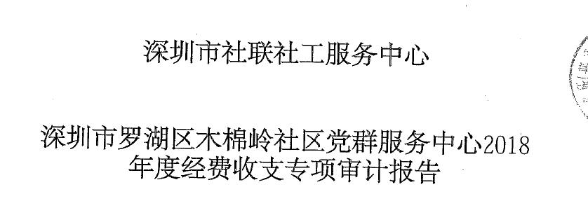 木棉岭社区2018年审计报告