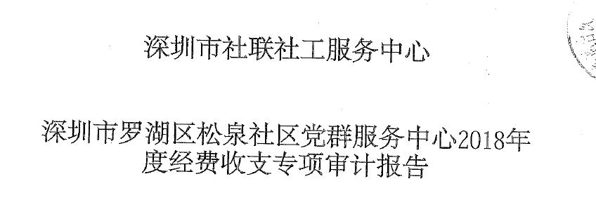 松泉社区2018年审计报告