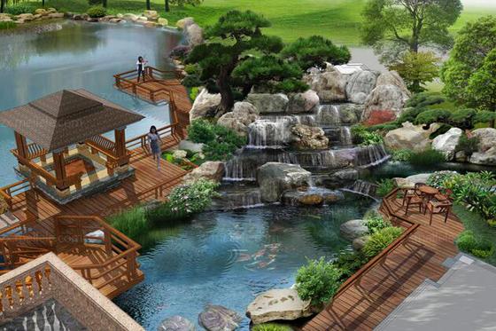 假山水景设计效果图欣赏